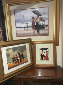 Three Fine Jack Vettriano Framed Prints - The Shape of Things to Come, Mad Dogs & Bad Boy Good Girl