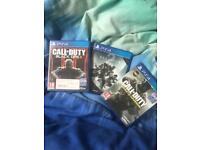 Three PS4 games for sale
