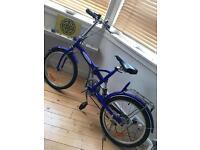 Funky PAC a bike UK fold up blue bike