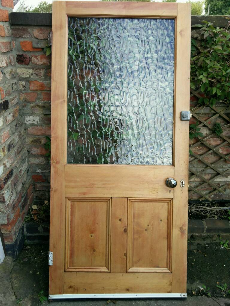 Large wooden victorian door