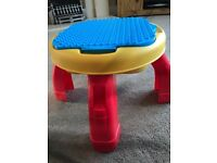 Baby duplo table and bricks