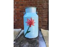 Small hand painted milk churn French