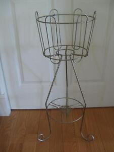 CLASSY TWISTED-BRASS THREE-LEGGED 30-IN. HIGH PLANT STAND