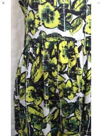 RIVER ISLAND Summer Dress - size 14 - pretty - stretch