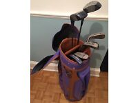 Ben Sayers golf clubs in vintage Italian style bag