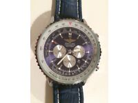 BrandNew Breitling Nativimer blue automatic sweeping movement