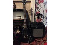 Electric guitar plus amplifier