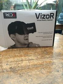 Visor virtual reality head set