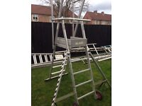 2 set of scaffold platforms ladders bargain £200 the lot