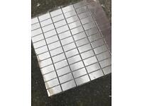 Metal wall tiles, would make a nice splash back