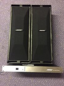 Pair of Bose 402 speakers Bose 402c controller and wall brackets
