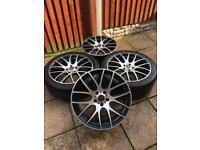 "5x120 20"" Wolfrace Munich alloy wheels BMW T5 not bbs"