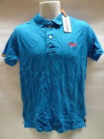 New Superdry Polo Top Blue Size M New with tag