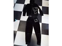'Hello Kitty' black velour outfit age 9-10 years