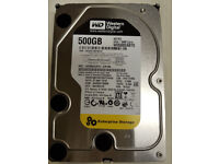 4x 500GB WD RE3 WD5002ABYS Enterprise Storage Hard Drives Seconhand fully Working