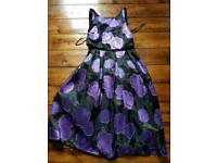 Brand new ASOS dress size 12 black and purple