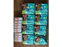 Pampers baby dry nappies size 5 and Huggies wipes