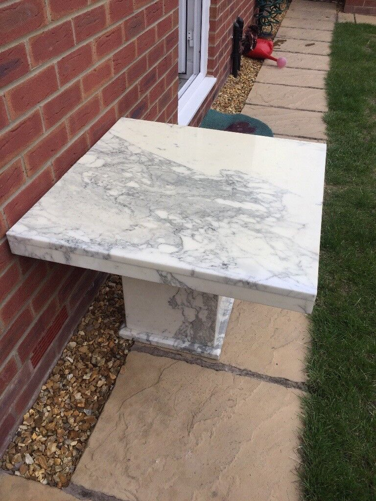 Solid Marble Lamp Table White With Grey Vein In Cheadle Hulme Manchester Gumtree