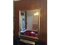 Large Gold Framed Bevelled Mirror