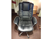 very comfy leather desk chair