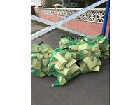 10kg bag of dried logs