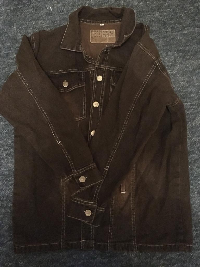 Brown denim jacket, size L