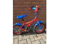 """Boys 14"""" bike Spider-Man"""
