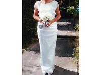 Cream silk wedding dress