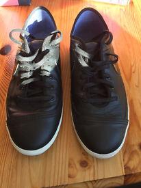 Mens Nike Trainers Nike Flash Leather Black UK Size 9