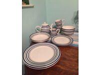 Set of Sainsbury coastal dinnerware.