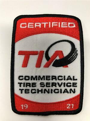 Commercial Tire (NEW Certified TIA Commercial Tire Service Technician 19 21 Iron On Patch)