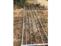 15 Foot ( 6 rail) Farming Gate with Post