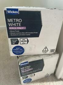 Wickes white metro tiles-gloss