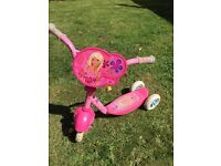 Toddler three wheel Barbie scooter