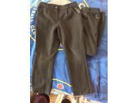 Girls grey school trousers age 4-5