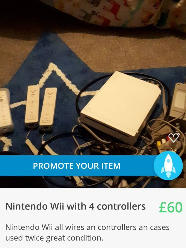 Nintendo wii used twice with 6 controllers