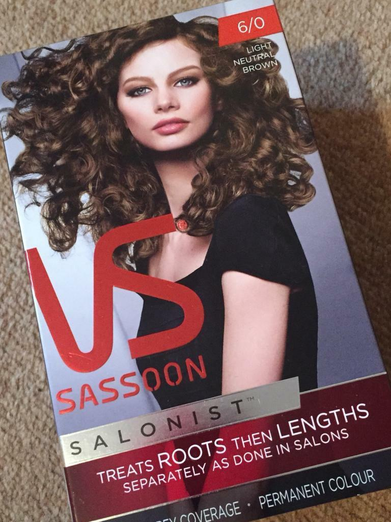 Vs Sassoon light neutral brown hair colour *new*