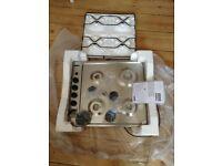 Zanussi built-in gas hob, silver, £85 o.n.o.