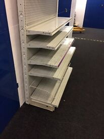 SHOP SHELVING RACKING TROLLEYS WAREHOUSE RACKING ALL MUST BE SOLD