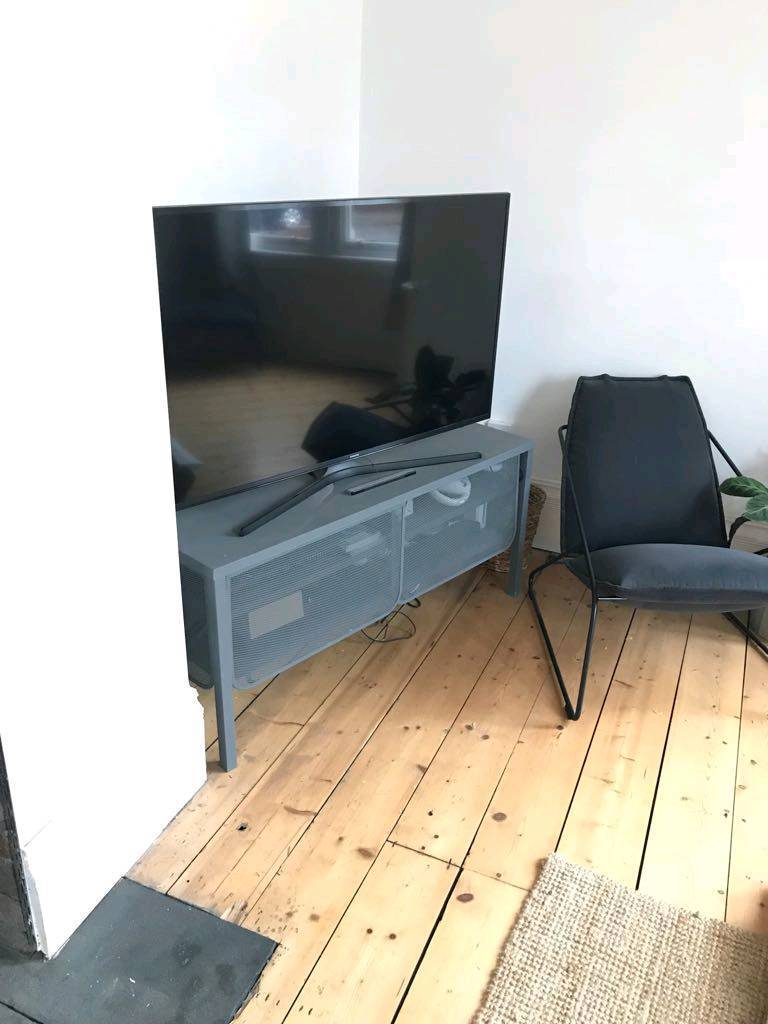 Metal TV cabinet / unit Matt grey
