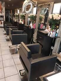 Hair salon spa barbering equipment chair mirror back wash to sale
