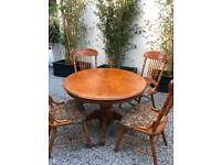 Oak dining table and 4 chairs Just £60, Can deliver locally.