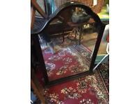 Huge Dark wood Mirror