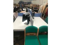 White Desk 1600mm x 800mm Double Bay