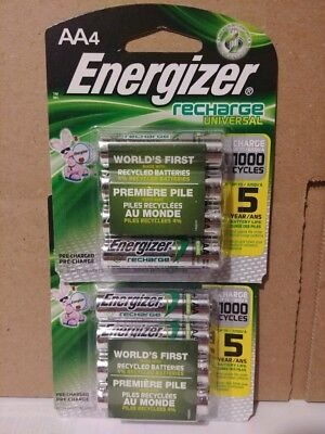 8 count Energizer Rechargeable AA Batteries