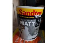 Sandtex Fine Textured White Masonry Paint 5L (part used)