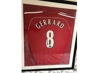 Signed Steven Gerrard Liverpool Shirt, £250