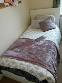 IKEA Single Bed with 2 storage boxes