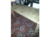 Mexican pine table 6ft x 3 ft