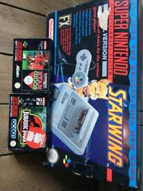 Super Nintendo Starwing edition boxset Complete Plus 3 Games SNES